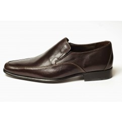 Vegan Slip-On Dress Shoes P8-45710-BROWN-V