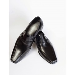 Vegan Slip-On Dress Shoes P11-45172-BLACK-V