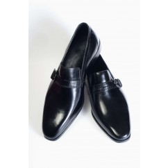Vegan Monk Strap Shoes P1-40177-BLACK