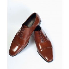 Vegan Cap-Toe Oxfords P15-40102-BROWN-V