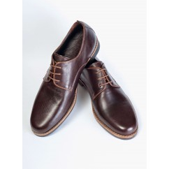 Vegan Derby Shoes P18-4723-BROWN-V