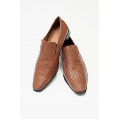Vegan Slip-on Dress Shoes P24-40177-BROWN-V