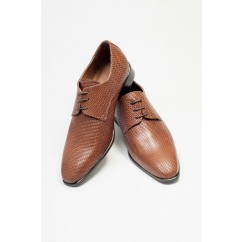 Vegan Slip-on Dress Shoes P25-40715-BROWN-V