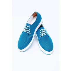 Vegan Blue Cordura® Sneakers P30-20216-BLUE-V